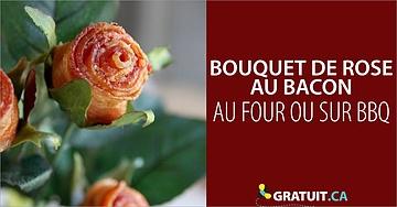 Comment faire un bouquet de roses au bacon