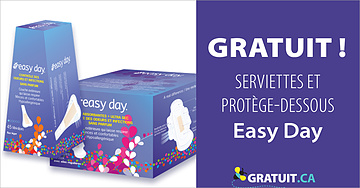 Produits d'hygiène féminine Easy Day gratuits