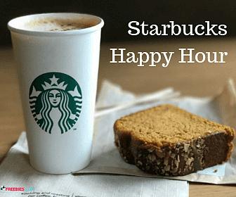 TODAY: Starbucks Happy Hour