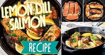 Lemon Dill Pan Fried Salmon