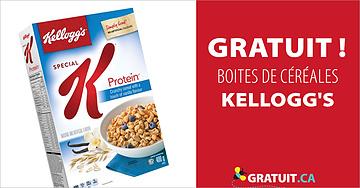 Boites de céréales Kellogg's gratuites
