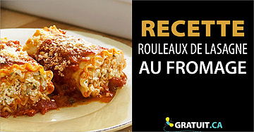 Rouleaux de lasagne pour amateurs de fromage