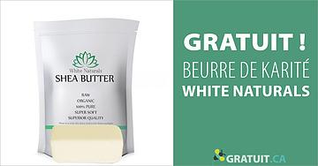 Échantillon gratuit de beurre de karité