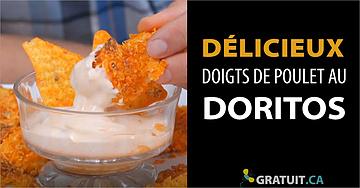 Doigts de poulet au Doritos