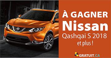 Gagnez une voiture Qashqai S 2018 de Nissan et plus