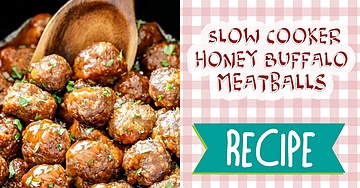 Slow Cooker Honey Buffalo Meatballs