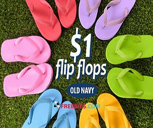 Old Navy $1 Flip Flop Sale