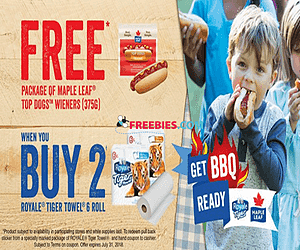 Free Maple Leaf Foods Hot Dogs with Purchase