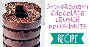 3-Ingredient Chocolate Crunch Doughnuts