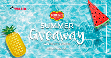 Win A Pool Float from Del Monte