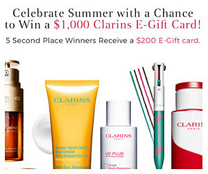 Win a $1,000 Clarins Gift Card!