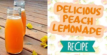 Delicious Peach Lemonade