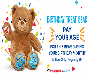 Pay Your Age During Your Birthday Month at Build-A-Bear