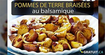 Petites pommes de terre braisées au balsamique