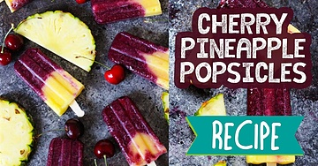 Cherry Pineapple Popsicles