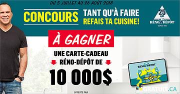 Gagnez une carte-cadeau Réno-Dépôt de 10 000$