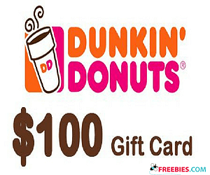 Win $100 Gift Card to Dunkin' Donuts