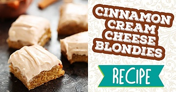 Cinnamon Cream Cheese Blondies