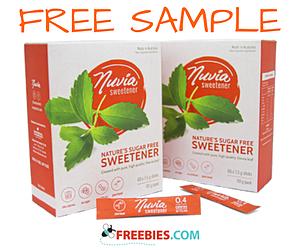 Free Sample of Nuvia Sweetener