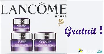 Gratuit - crème hydratanteRénergie de Lancôme