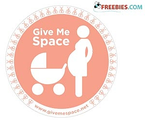 Free Give Me Space Car Sticker