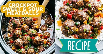 Crockpot Sweet & Sour Meatballs