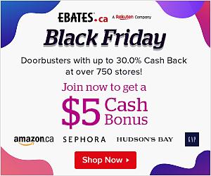 Ebates Black Friday Event + Cash Back