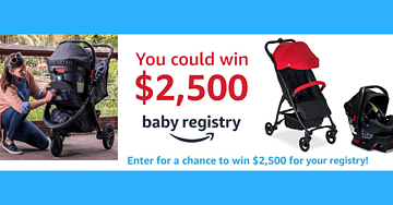 Win a $2,500 Baby Registry from Amazon
