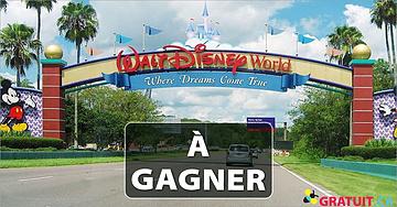 Gagnez des vacances pour 4 à Disney World Orlando