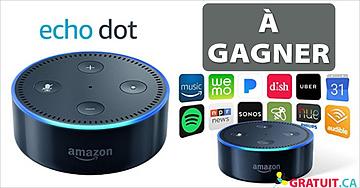 Gagnez un des 5000 assistants Amazon Écho DOT