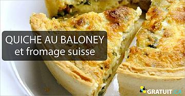 Quiche au baloney et fromage suisse