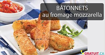 Bâtonnets au fromagemozzarella