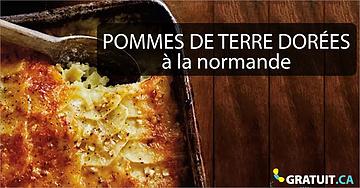 Délicieuses pommes de terre dorées à la normande