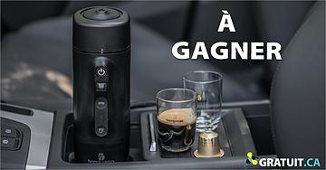 Gagnez une machine espresso pour voiture Handpresso