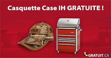 Casquette Case IH GRATUITE et chance de gagnez un BBQ!
