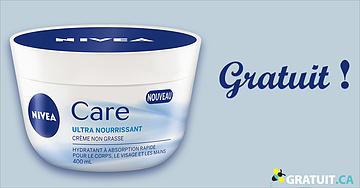 GRATUIT nouvelle crème pour la peau Nivea Care