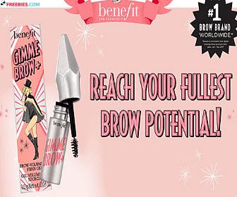 Free Benefit Cosmetics Brow Samples