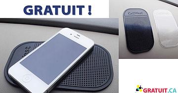 GRATUIT - tapis antidérapant pour téléphones cellulaires