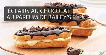 Éclairs au chocolat au parfum de Bailey's