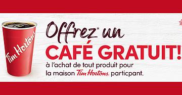 Café Tim Hortons gratuit!