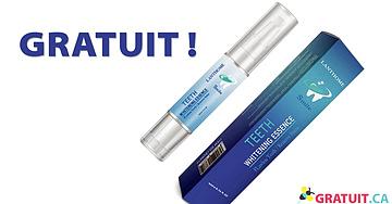 Échantillon d'essence de blanchiment des dents gratuit