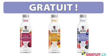 Smoothie au yogourt Organic Meadow gratuit