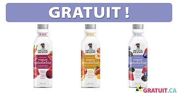 Smoothie au yogourt Organic Meadow gratuit