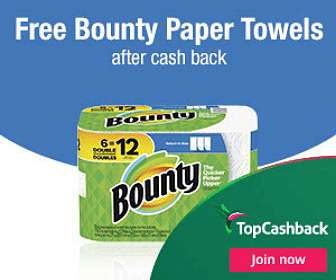 Free Bounty Paper Towels with Sign Up