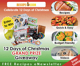 12 Days of Giveaways from Recipe Lion