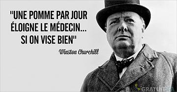 Une pomme par jour... Winston Churchill
