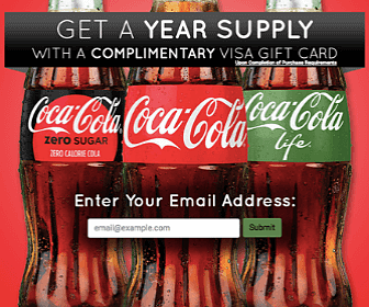 Win a Year's Supply of Coke