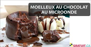 Moelleux au chocolat au microonde