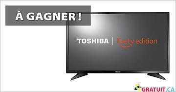 """Gagnez une télé Toshiba – 32"""" Smart HDTV"""
