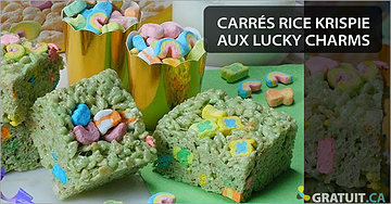 Carrés Rice Krispie aux Lucky Charms